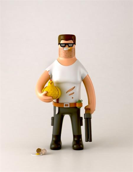 Arnie, uno dei toys della collezione Heroes and Villains di Yum Yum