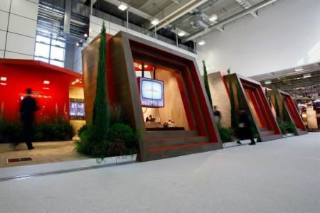 Lo stand Novoceram al Cersaie 2011 Interior Design Francesco Catalano