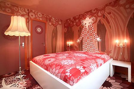 La camera 217 dell'Hotel Fox di Copenhagen con le illustrazioni di Brigit Amadori