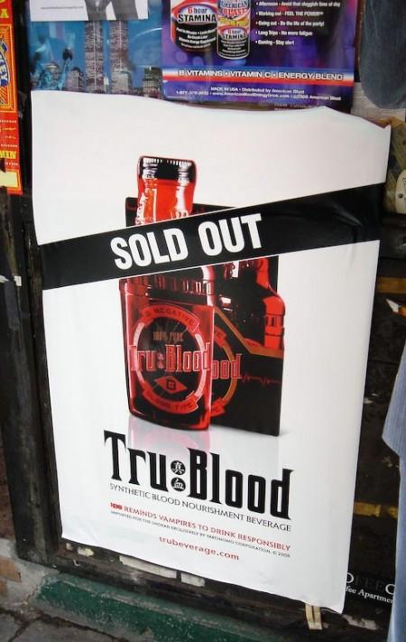una affissione virale per il lancio della serie TV True Blood