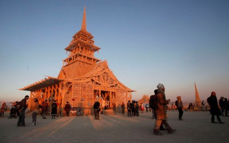 Una immagine del Tempio di Juno al Burning Man 2012. Fertility 2.0
