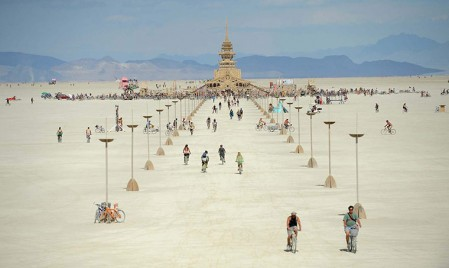 Tempio di Juno al 26° festival Burning Man 2012 Black Rock Desert, NEvada