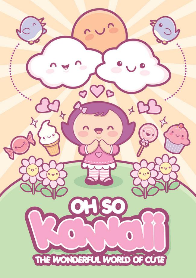 un poster di Jerrod Maruyama in puro stile kawaii