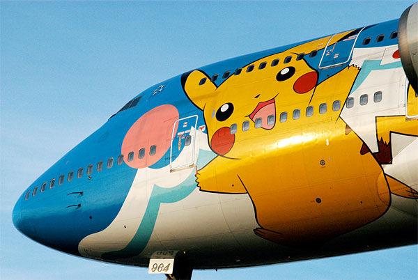 L'immagine di Pokemon utilizzata da una compagnia aerea per personalizzare i propri velivoli