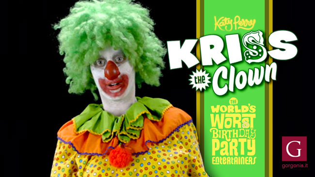 Kriss the clown: uno dei personaggi interpretati da Katy Perry nel video di Birthday