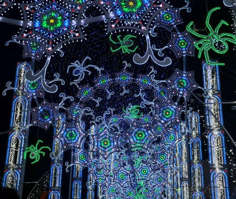 luminarie per la festa di Santa Domenica a Scorrano