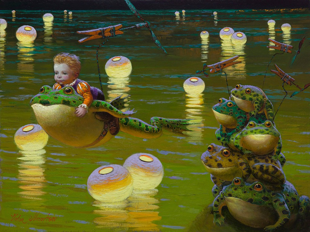 Un quadro fiabesco del pittore russo Victor Nizovtsev - Carefully selected by GORGONIA www.gorgonia.it