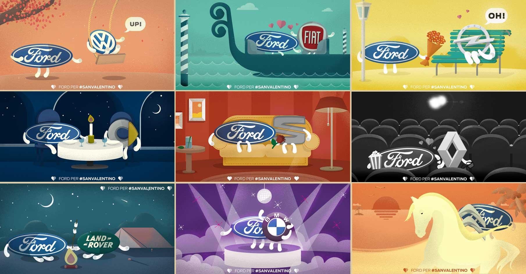 la campagna twitter di Ford per San Valentino - www.gorgonia.it