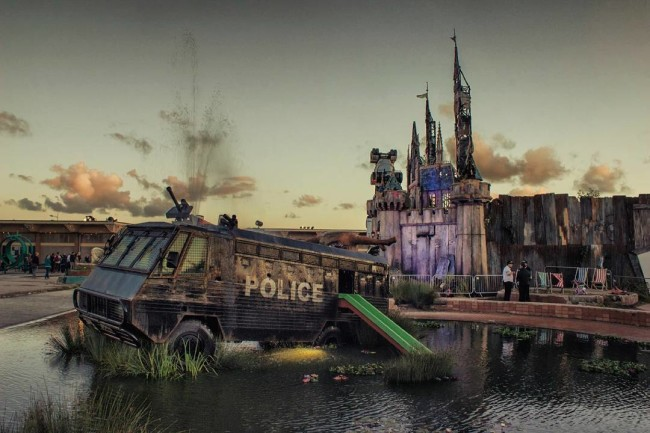 Water Cannon Creek at Banksy's Dismaland - Carefully selected by Gorgonia www.gorgonia.it