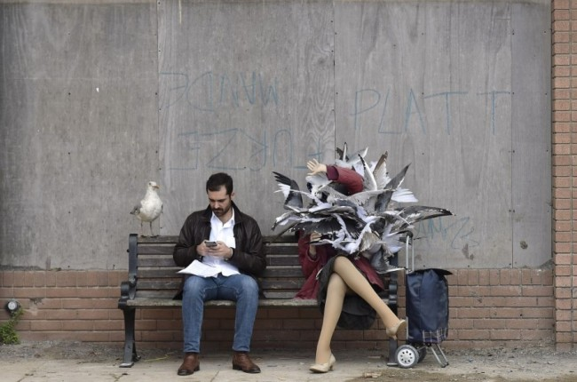 Seagull Attack at Banksy's Dismaland - Carefully selected by Gorgonia www.gorgonia.it