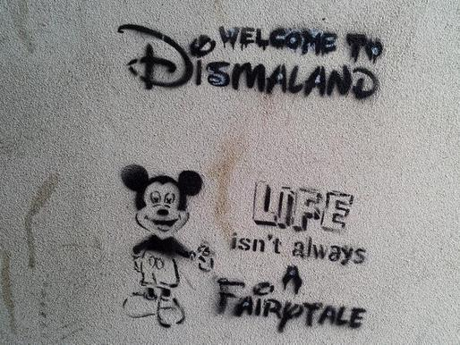 Mickey Mouse graffiti at Banksy's Dismaland - Carefully selected by Gorgonia www.gorgonia.it