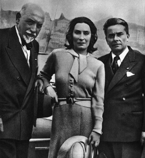 Luigi Pirandello, Marta Abba e Massimo Bontempelli- Carefully selected by Gorgonia www.gorgonia.it