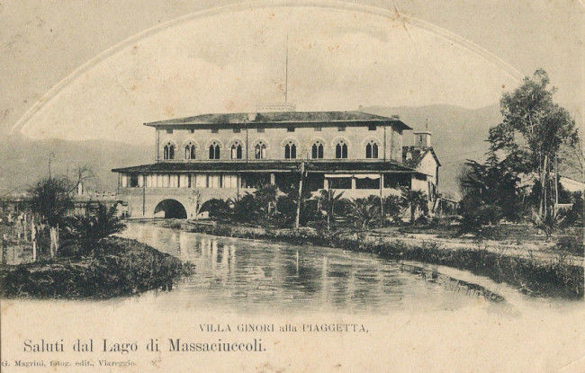 Una rara immagine d'epoca diVilla Ginori detta La Piaggetta a Quiesa, sul Lago Massaciuccoli - Carefully selected by Gorgonia www.gorgonia.it