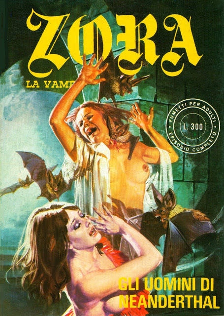 Una copertina di Emanuele Taglietti per il fumetto erotico Zora la Vampira - Carefully selected by GORGONIA www.gorgonia.it