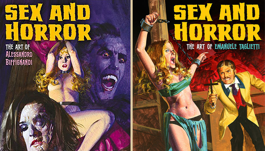 Sex and Horror: due libri dedicati all'arte degli illustratori Alessandro Biffignandi ed Emanuele Taglietti, maestri copertinisti del fumetto erotico italiano - Carefully selected by GORGONIA www.gorgonia.it