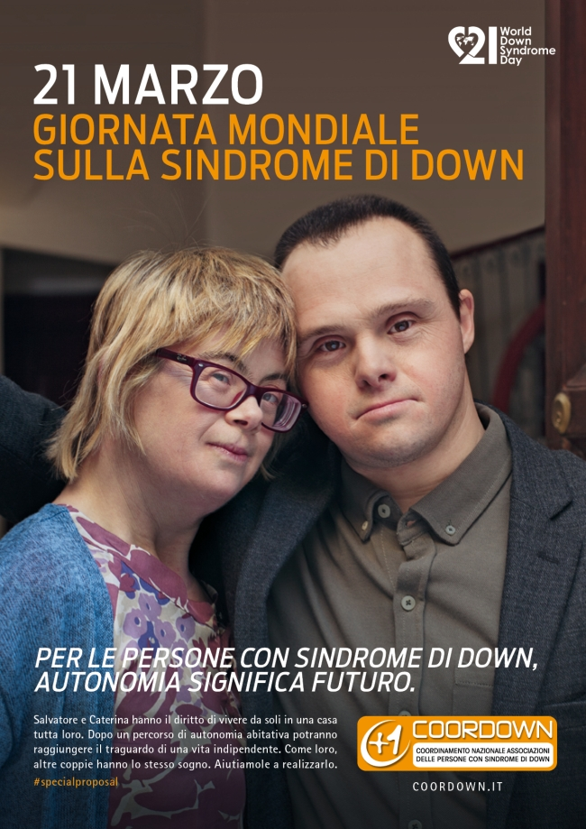 Il poster della Giornata mondiale della Sindrome di Down - Carefully selected by GORGONIA www.gorgonia.it
